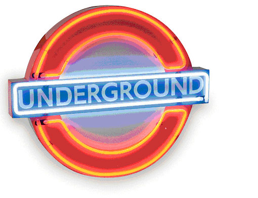 London Underground Neon Sign