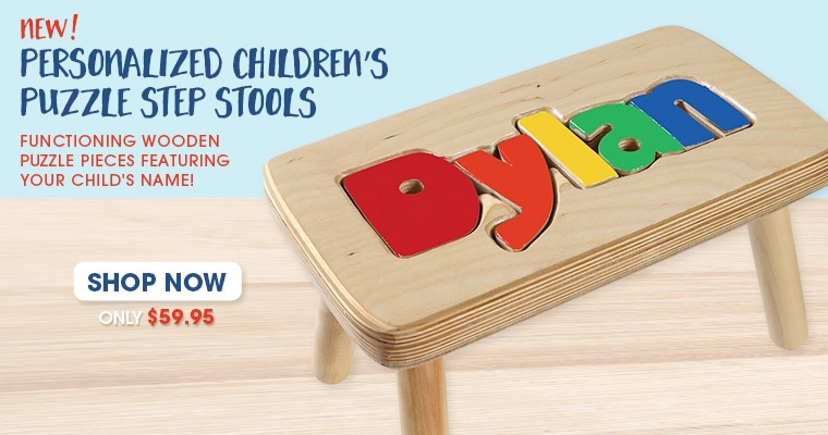 Personalized Children's Puzzle Stools