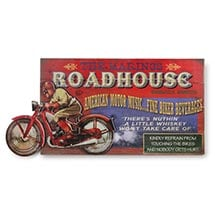 Personalized Roadhouse Motorbike Sign
