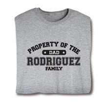 """Personalized Property of """"Your Name"""" Dad Athletic T-Shirt"""