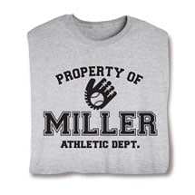 """Personalized Property of """"Your Name""""  Baseball T-Shirt"""
