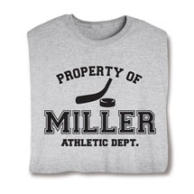 "Personalized Property of ""Your Name"" Hockey T-Shirt"