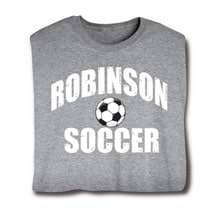 """Personalized """"Your Name"""" Soccer T-Shirt"""