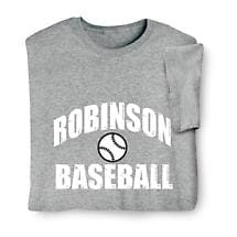 "Personalized ""Your Name"" Baseball T-Shirt"