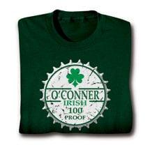 "Personalized ""Your Name"" Irish 100 Proof Shirt"