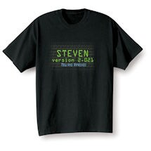 """Personalized """"Your Name"""" Goal Shirt - Version 2.020 New and Improved"""