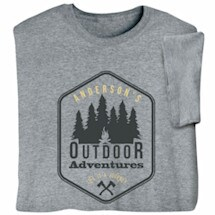 """Personalized """"Your Name"""" Outdoor Adventures Life is a Journey T-Shirt"""