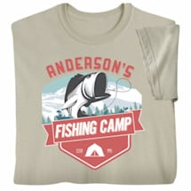 """Personalized """"Your Name"""" Fishing Camp T-Shirt"""