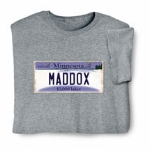 Personalized State License Plate Shirts - Minnesota