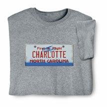 Personalized State License Plate Shirts - North Carolina