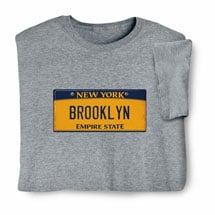 Personalized State License Plate Shirts - New York