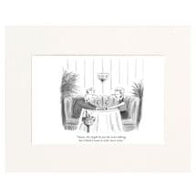 Just the Wine Talking Personalized New Yorker Cartoonist Cartoon - Matted