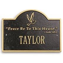 Personalized Peace Plaque