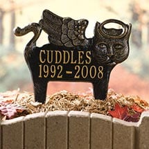 Personalized Angel Pet Memorial Marker - Cat