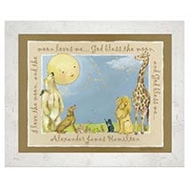 Personalized God Bless The Moon Framed Print