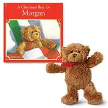 A Christmas Bear Personalized Book And Bear
