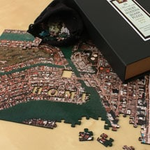 Personalized Aerial Hometown Jigsaw Puzzle - Heirloom Edition