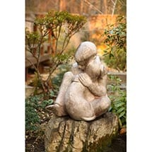 Boy & Dog Sculpture