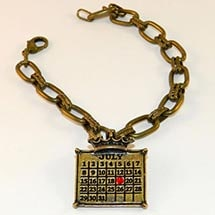 Personalized Calendar Crown Charm Bracelet