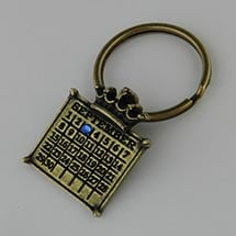 Personalized Calendar Crown Key Ring (Round)