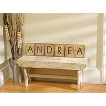 Personalized Game Piece Wall Art - 10 Letters