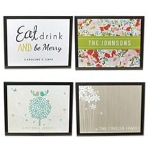 Personalized Glass Table Mats - Set Of 4