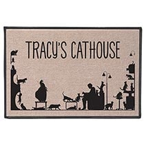 Personalized Too Many Cats Doormat