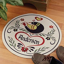 Personalized Hex Sign Doormat