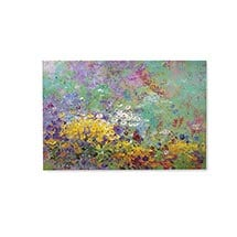 Pastel Flowers Art Canvas