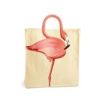 Neck Handle Flamingo Tote Bag