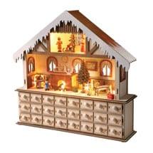 Lighted Santa's Advent Workshop