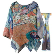 Van Gogh Tunic with Starry Night Scarf