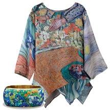 Van Gogh Tunic with Irises Bangle