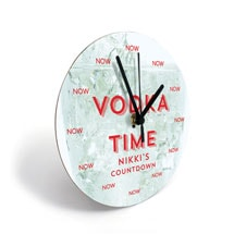 Personalized Vodka Clock