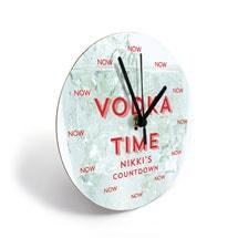 Personalized Vodka Clock