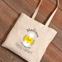 Personalized Easter Tote - Chick in Egg