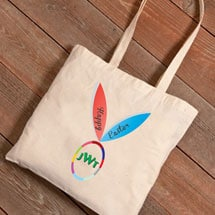 Personalized Easter Tote - Bunny Ears with Monogram