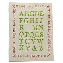 Christmas Alphabet Plaque