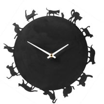 Cat Silhouettes Clock