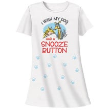 Dog Snooze Button Nightshirts