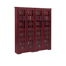 Mission Style Media Storage Cabinets - 4 Door