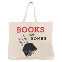 Books Not Bombs Tote