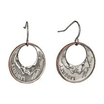 Eclipse Dime Earrings