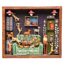 Handcrafted House of Cats Retablo Frame