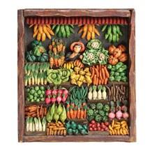 Handcrafted Vegetable Market Retablo Frame
