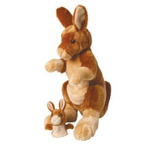 Mother and Baby Kangaroo Soft Plush Toy