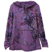 Hand-Painted Hooded Pullover