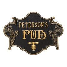 Personalized Hops & Barley Pub Plaque