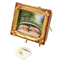 "Genuine Limoges Box with Monet's ""Japanese Footbridge"""