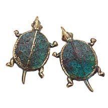 Box Turtle Cuff Earrings